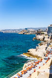 Marseille, France. Rest area on the beach Stock Photos