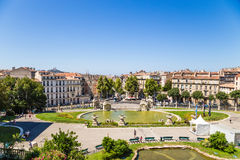 Marseille, France. The Pond At The Bottom Of The Palace Of Longchamp Stock Photos