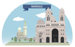 Marseille. France. For you design Royalty Free Stock Images