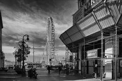 Marseille, Francja Ferris koło Fotografia Royalty Free