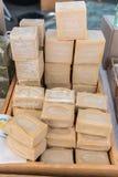 MARSEILLE, FRANCJA - 28 LIPIEC: Czysty warzywa mydło robić w Marseille na 28 2017 Lipu na rynku w Marseille, Francja Zdjęcia Stock