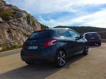 Marseille, Frankrijk - September 08, 2015: De auto bij bergen Stock Foto's