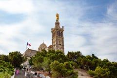 MARSEILLE FRANKRIKE - basilika Notre Dame Royaltyfri Bild