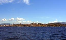 Marseille Frankrike horisont Arkivfoto