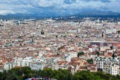 Marseille Frankrike panorama Arkivbilder