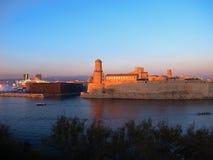 Marseille gammal port i det medelhavs- france Royaltyfri Foto