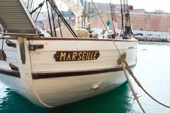 Marseille gammal port i det medelhavs- france Arkivbild
