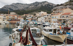 Marseille Habor of la Madrague Montredon Stock Photography
