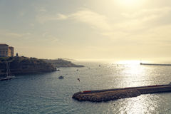 Marseille hamn Arkivbild