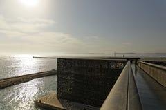 Marseille hamn - MUCEM Arkivfoton