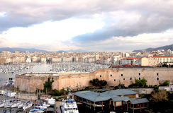 Marseille harbor Royalty Free Stock Photos