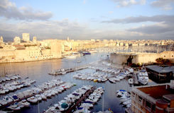 Marseille harbor Stock Photography