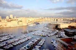 Marseille harbor stock photography