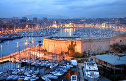 Marseille harbor Stock Photo