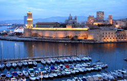 Marseille harbor Royalty Free Stock Images