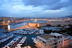 Marseille harbor Stock Photos