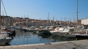 Marseille Harbour. The harbour at Marseille, France, packed with small boats, both working and pleasure craft Royalty Free Stock Photo