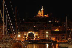 Marseille la nuit Images stock