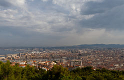 Marseille landscape. View on Marseille from mountian Stock Photography