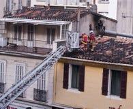 Marseille-Marinefeuer-Bataillon in der Tätigkeit Lizenzfreie Stockfotos