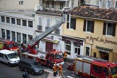 Marseille-Marinefeuer-Bataillon in der Tätigkeit Stockbilder
