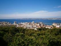 Marseille och hav Fotografering för Bildbyråer