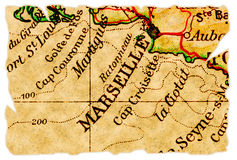 Marseille old map Royalty Free Stock Photography