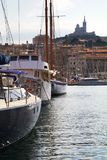 Marseille old port in the mediterranean. France Stock Photo