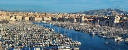 Marseille, oude haven Royalty-vrije Stock Foto