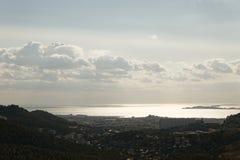 Marseille panorama Royaltyfri Fotografi