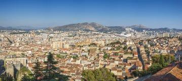 Marseille panorama Frankrike arkivfoton