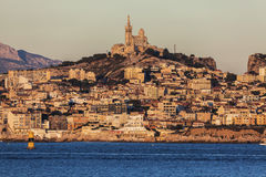 Marseille panorama from Frioul archipelago Royalty Free Stock Photography