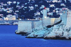 Marseille panorama and lighthouse on If island Stock Image