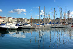Marseille port Obrazy Royalty Free