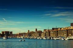 Marseille port Arkivfoto