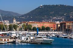Marseille port, France. View over Marseille port, Mediterranean Sea, France Stock Photography