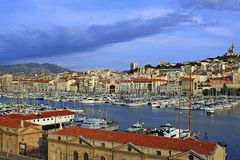 Marseille port in France Stock Photography