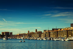 Marseille Port. The Old Port in Marseille (Vieux port), France Stock Photo