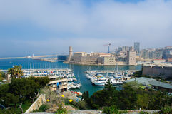 Marseille port. Marseille is the second largest city in France Stock Images