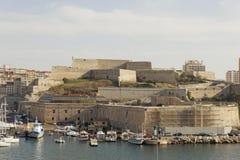 Marseille przystań - saint nicolas forteca Zdjęcia Stock