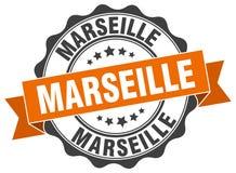 Marseille round ribbon seal. Marseille round orange ribbon seal Royalty Free Stock Photos