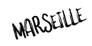 Marseille rubber stamp. Grunge design with dust scratches. Effects can be easily removed for a clean, crisp look. Color is easily changed Stock Photos