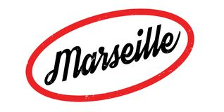 Marseille rubber stamp. Grunge design with dust scratches. Effects can be easily removed for a clean, crisp look. Color is easily changed Stock Image