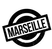 Marseille rubber stamp. Grunge design with dust scratches. Effects can be easily removed for a clean, crisp look. Color is easily changed Royalty Free Stock Image