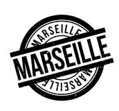 Marseille rubber stamp. Grunge design with dust scratches. Effects can be easily removed for a clean, crisp look. Color is easily changed Stock Photo