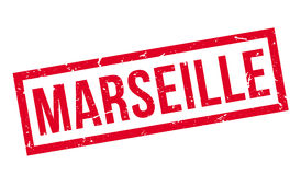 Marseille rubber stamp Royalty Free Stock Photos