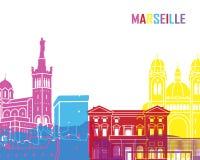 Marseille skyline pop Royalty Free Stock Image