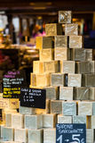 Marseille soap stacked. Close up of marseille soap stacked Stock Image