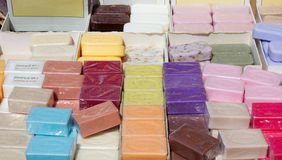 Marseille Soaps. A collection of Marseille soaps in many different fragrances Stock Image