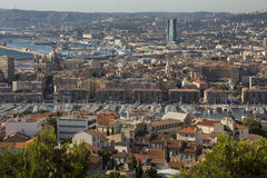 Marseille - South of France. The city of Marseille in the Cote d'Azur region of the South of France. View from the Cathedral de Notre-Dame-de-la-Garde high on a Royalty Free Stock Photography